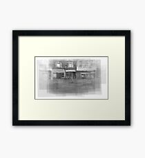 Angst downtown Toronto streetscape Framed Print
