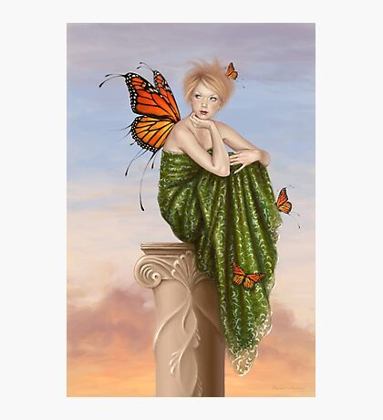 Sunrise Monarch Butterfly Fairy Photographic Print