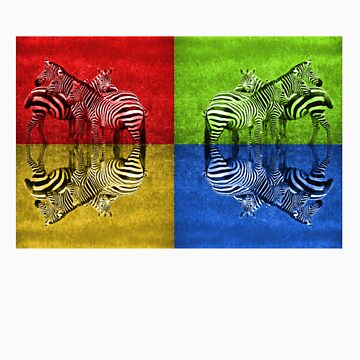 Coloured Zebra by jmoore1990