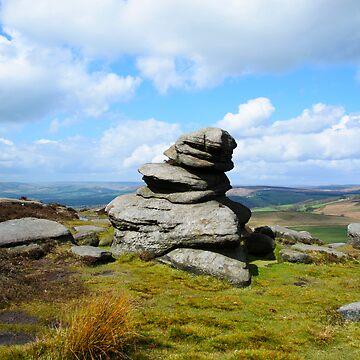 Hathersage Budda - The Rock Man by obadiah