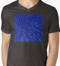 Mommy and her little one matching Blue Peacock QTees Mens V-Neck T-Shirt