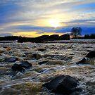 Broken Scar Weir, River Tees, 27-April-2012 by Ian Alex Blease