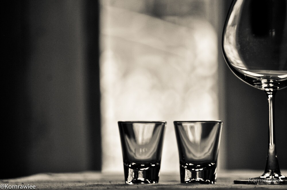 2 Shots, one red wine make your day...Got 14 Featured Works by Kornrawiee