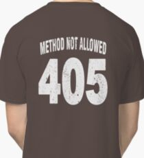 Team shirt - 405 Method Not Allowed, white letters Classic T-Shirt