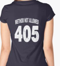 Team shirt - 405 Method Not Allowed, white letters Women's Fitted Scoop T-Shirt