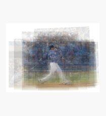 Jose Bautista Swing Bat Flip Photographic Print