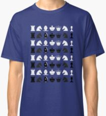Chess Pieces Pattern Classic T-Shirt