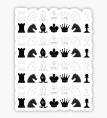 Chess Pieces Pattern Sticker