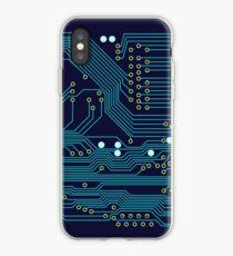 Dark Circuit Board iPhone Case