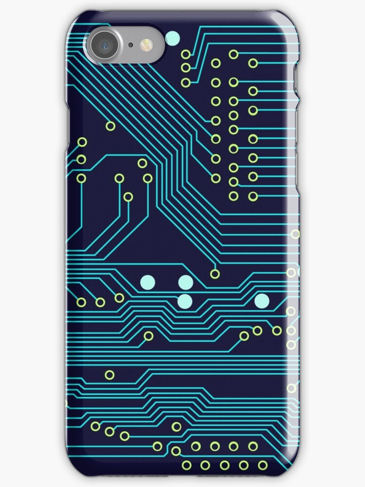 Dark Circuit Board by Jenna Mhairi