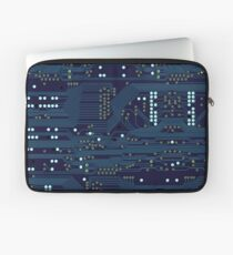 Dark Circuit Board Laptop Sleeve