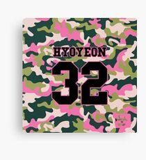 Girls' Generation (SNSD) HYOYEON 'PINK ARMY' Canvas Print