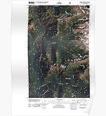 USGS Topo Map Washington State WA Skagit Peak 20110427 TM Poster