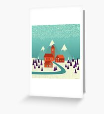Village Greeting Card