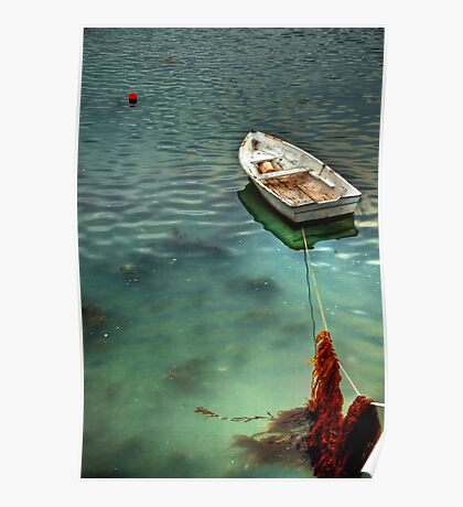 Moored at Low Tide Poster