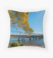 Nowra Bridge Throw Pillow