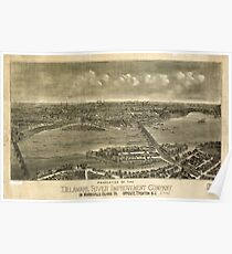 Panoramic Maps Properties of the Delaware River Improvement Company on Morrisville Island Pa Poster