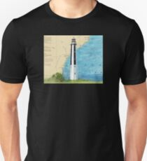 Cape Romain Lighthouse SC Nautical Chart Map Peek Unisex T-Shirt