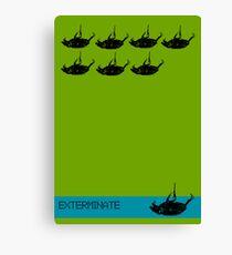 Exterminate poster green Canvas Print