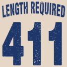 Team shirt - 411 Length Required, blue letters by JRon