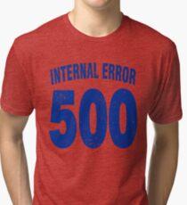 Team shirt - 500 Internal Error, blue letters Tri-blend T-Shirt