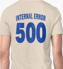 Team shirt - 500 Internal Error, blue letters T-Shirt
