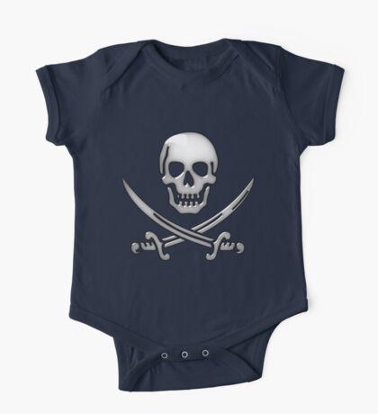 Glassy Pirate Skull & Sword Crossbones  Kids Clothes