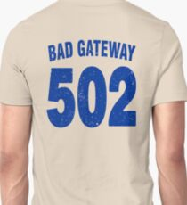 Team shirt - 502 Bad Gateway, blue letters T-Shirt