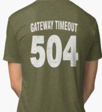 Team shirt - 504 Gateway Timeout, white letters Tri-blend T-Shirt