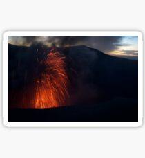 Volcano, Tanna Island Sticker