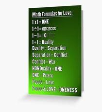 Math 4 Love Greeting Card