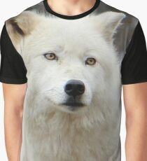 Arctic Wolf Close Up Graphic T-Shirt