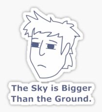 Gavin Free - The Sky is Bigger Than the Ground Sticker