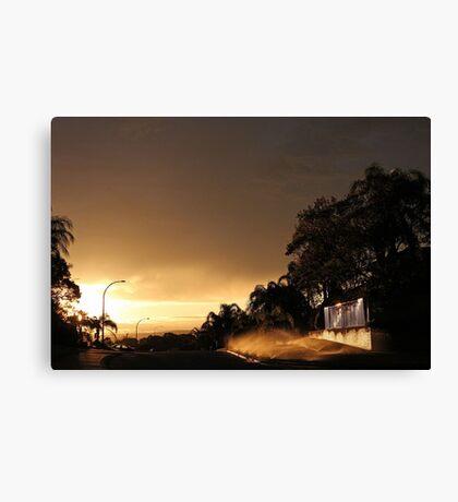 Suburban Sunrise  Canvas Print