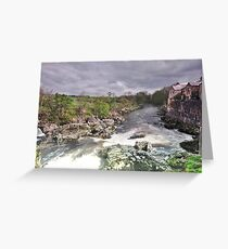 Linton falls down stream. Greeting Card