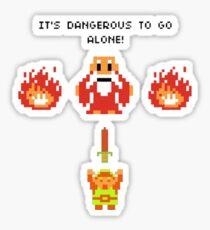 It's Dangerous To Go Alone - Legend of Zelda Sticker