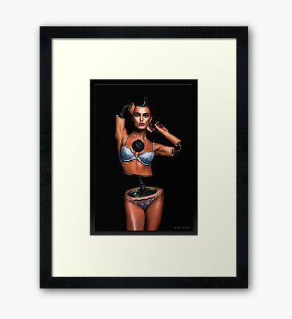 Miss. Cyborg Framed Print