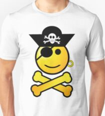 Pirate Emoticon - Smiling Unisex T-Shirt