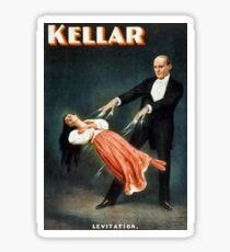 Kellar Levitation Magician Vintage Advertisement Sticker
