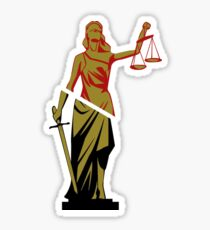 Red and Bronze Statue Sticker