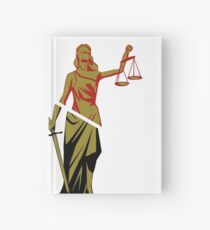 Red and Bronze Statue Hardcover Journal