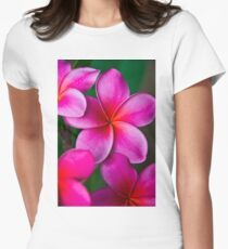 Pink Plumeria 1080 Women's Fitted T-Shirt