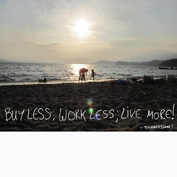 buy less; work less; live more! by thunderbloke