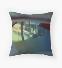 Reflections from the poolside Throw Pillow