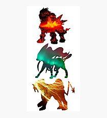 the legendary trio (beasts) Photographic Print