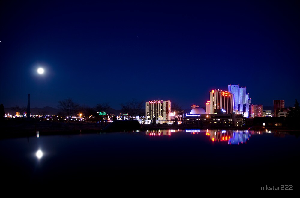Quot View Of Reno Nv On A Calm Winter Night Quot By Nikstar222