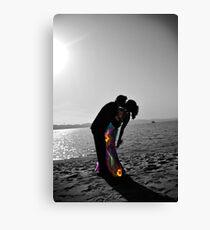 Formal Beach Kiss Canvas Print