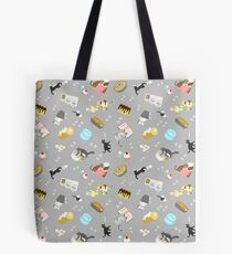 Cats Baking Cakes and other Sweets, in Grey Tote Bag