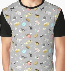 Cats Baking Cakes and other Sweets, in Grey Graphic T-Shirt