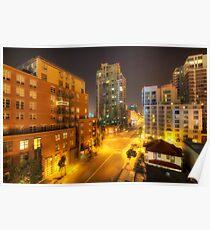 San Diego City Lights Poster
